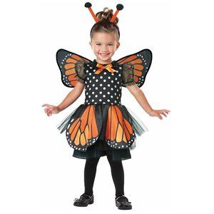 Toddler MONARCH BUTTERFLY Costume Dress Up 2T/3T